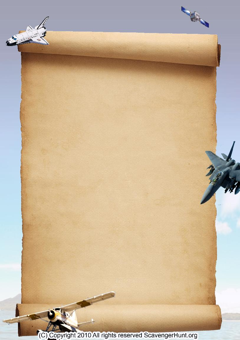aerospace scavenger hunt background