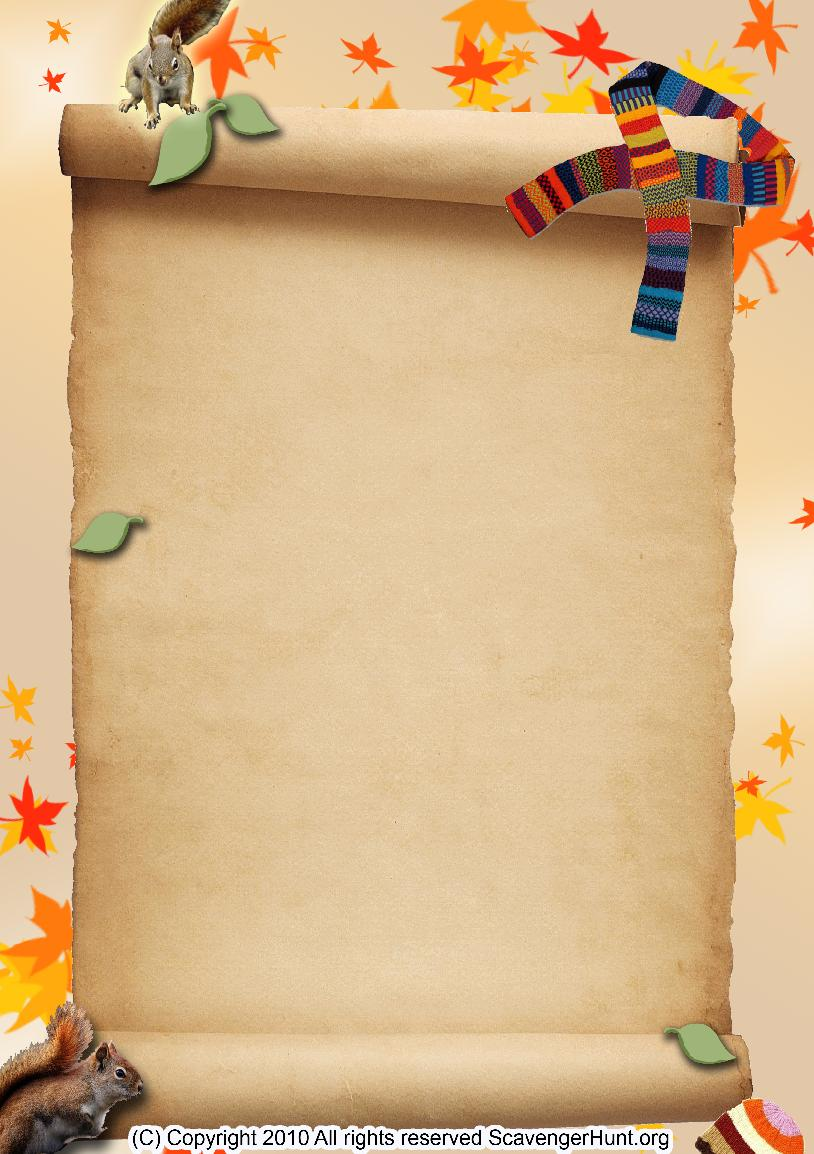 autumn scavenger hunt background
