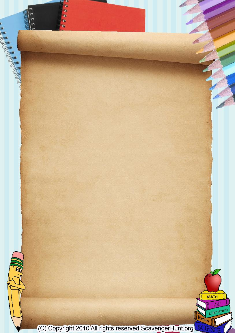back-to-school scavenger hunt background