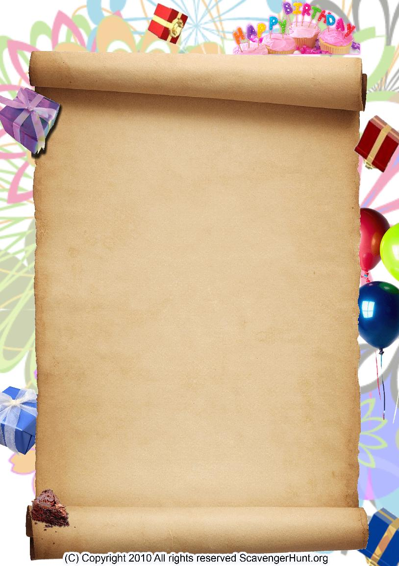 birthday-party scavenger hunt background