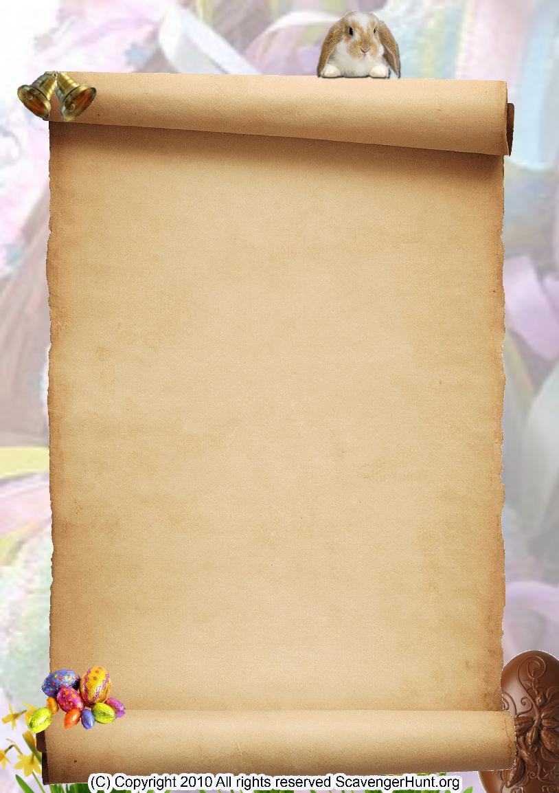 easter scavenger hunt background