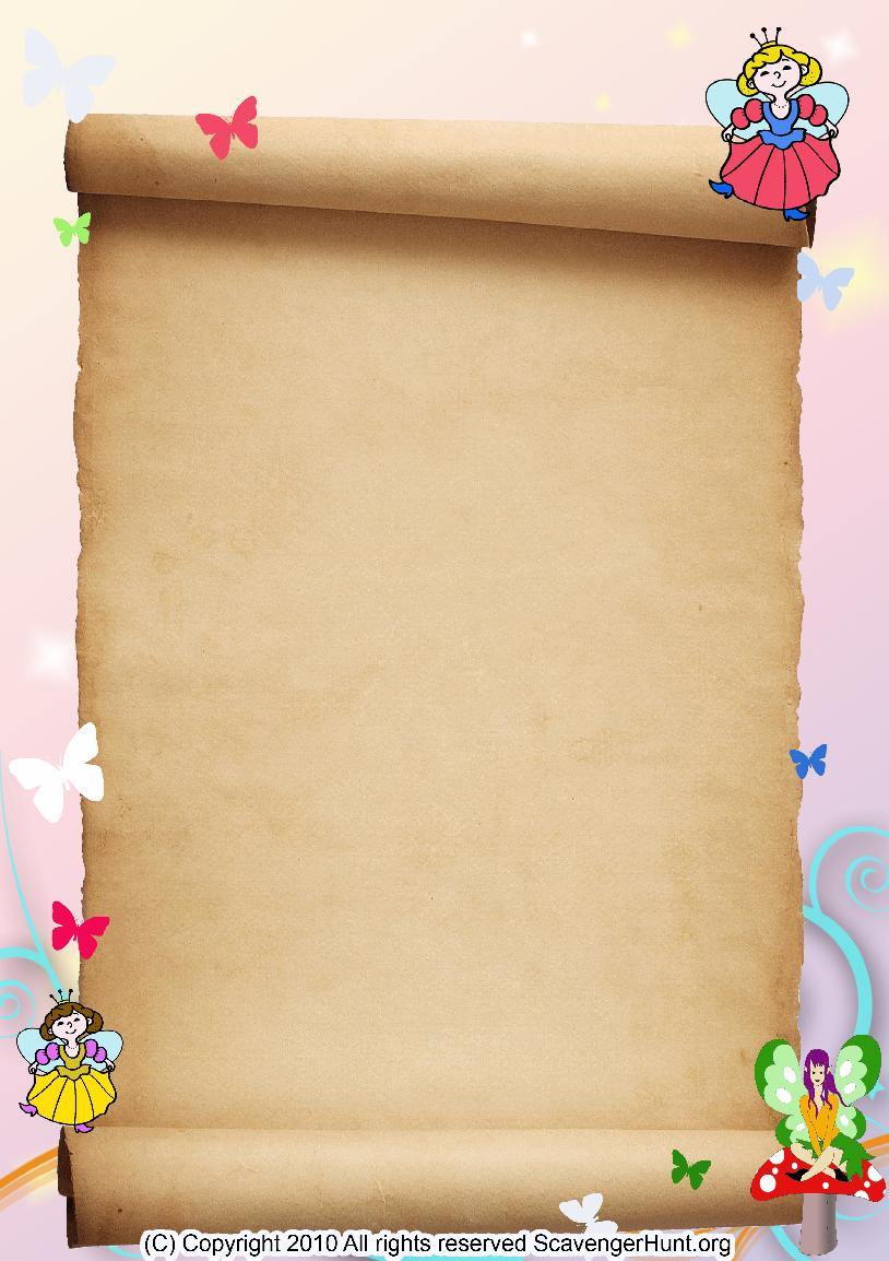 fairies scavenger hunt background
