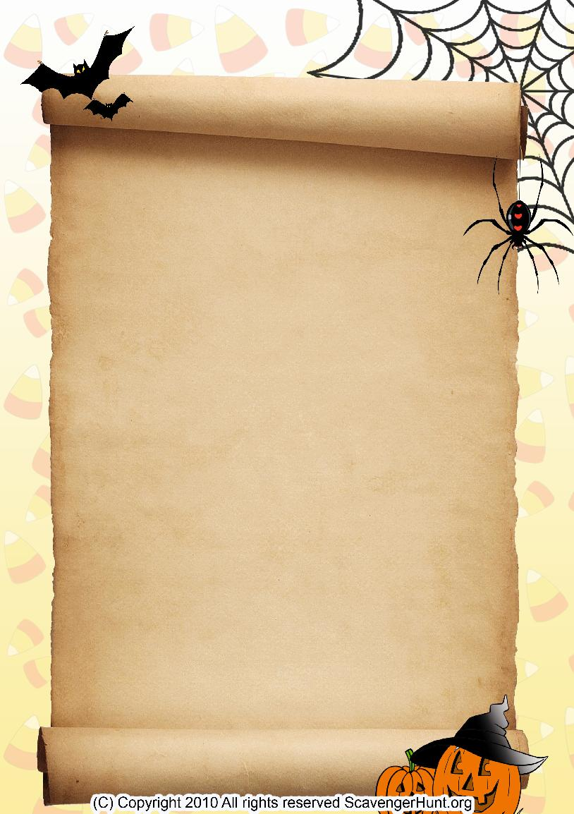 halloween scavenger hunt background