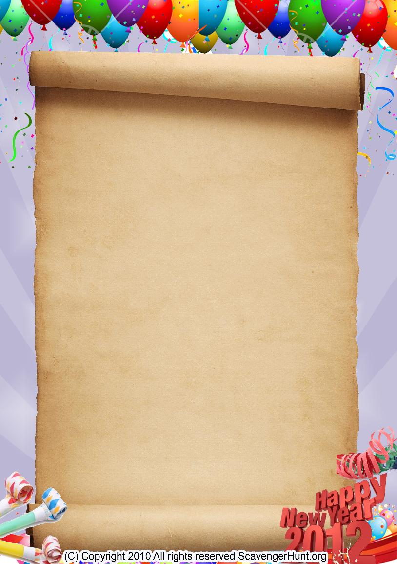 happy-new-year scavenger hunt background