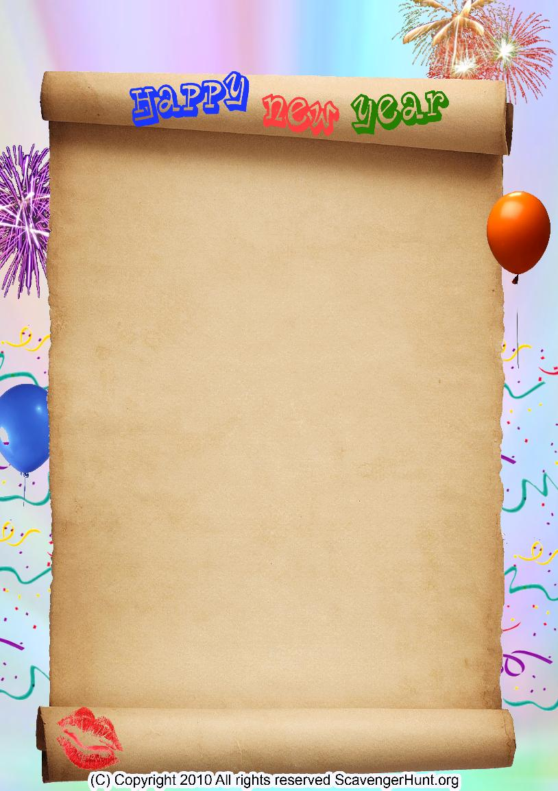 new-year scavenger hunt background