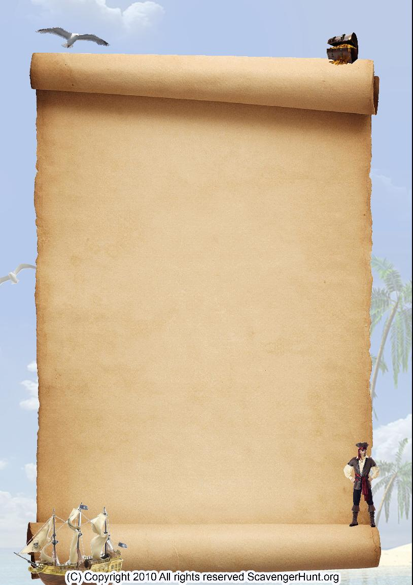 pirates scavenger hunt background