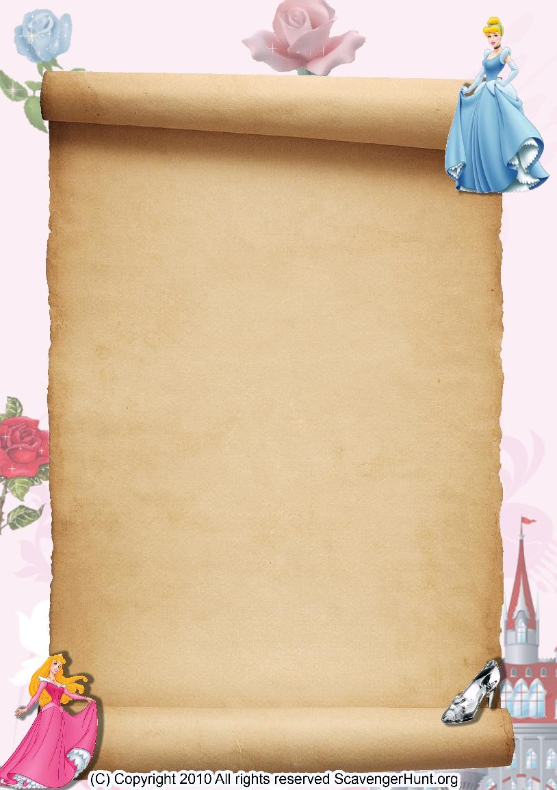 princesses scavenger hunt background