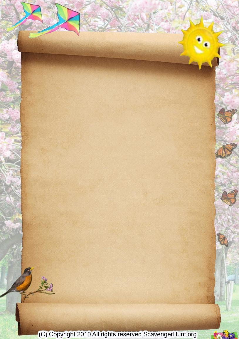 spring scavenger hunt background