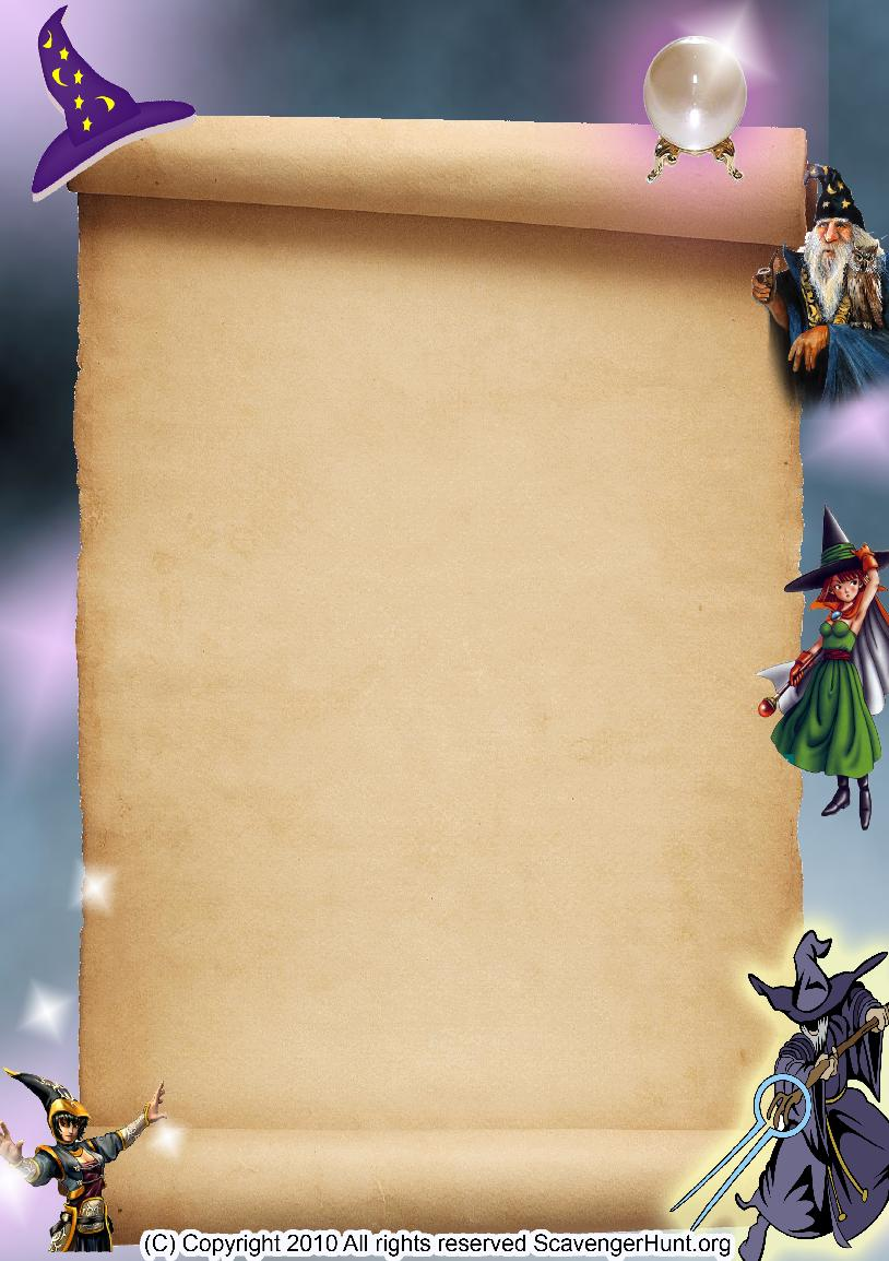 wizards scavenger hunt background